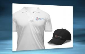 APOS Logo beispielhaft auf Merchandise-Artikeln